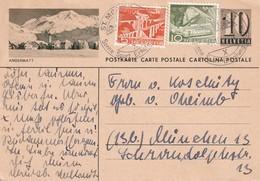SUISSE 1957 ENTIER POSTAL/GANZSACHE/POSTAL STATIONERY CARTE ILLUSTREE DE ST.MORITZ - Interi Postali