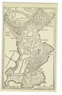 Juan Les Pins - Antibes - Le Cap D'Antibes - Plan Dessiné Façon Carte Routière Avec échelle Et Orientation - Pas Circulé - Landkaarten