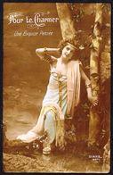 """FEMME - CP - Jeune Femme  - """" Pour Te Charmer """" - Circulé Ss Enveloppe - Circulated U.Cover - Gelaufen U. Umschlag. - Femmes"""