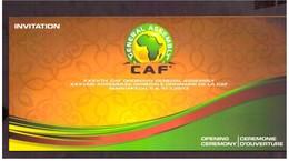 Maroc. 2 Invitations à  Cérémonie D'ouverture Et Dîner De Clôture De La CAF 2013. Confédération Africaine De Football. - Apparel, Souvenirs & Other