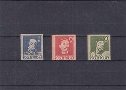 Pologne - Yvert 427 / 29 (*) - NON Dentelés - Réimpression - Nachdrück Von 1978 - Valeur Série Normale = 600 € - 1919-1939 Republik
