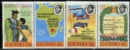 AS5986 Swaziland 1974 Three Kingdoms University Flag Map 4V MNH - Swaziland (1968-...)