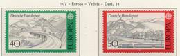 PIA - GERMANIA  - 1977 : Europa  (Yv  781-82) - Europa-CEPT