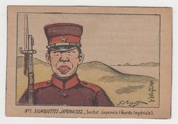 MF182 - JAPON - Illustration - Soldat Japonais Signée BIGOT - N°1 : Silhouettes Japonaises - Bigot