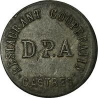 Monnaie, France, Ville De Castres, Castres, 5 Centimes, TTB+, Zinc, Elie:25.2-V1 - Monétaires / De Nécessité