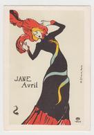 MF186 - Jolie Illustration - Affiche Pour Jane Avril - H. De TOULOUSE LAUTREC - H- Stern - Paris - Malerei & Gemälde