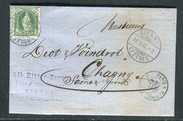 Suisse - Lettre ( Avec Texte ) De Bienne Pour La France En 1882 - Prix Fixe - Réf JJ 125 - 1862-1881 Helvetia Assise (dentelés)