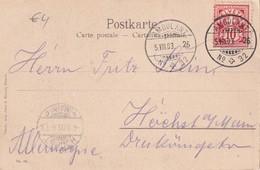 SUISSE  1903 CARTE POSTALE AVEC CACHET AMBULANT  VUE VIA MALA II BRÜCKE - 1882-1906 Armoiries, Helvetia Debout & UPU