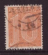 Deutsches Reich D 65 Gestempelt Dienstmarke Geprüft Attest Dienst (21889) - Dienstpost
