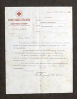 Croce Rossa Italiana Chiamata In Servizio Infermiera Volontaria Alessandria 1935 - Vecchi Documenti