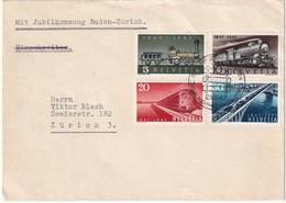 SUISSE  1947 JUBILEUM FAHRT BADEN-ZURICH - Suisse