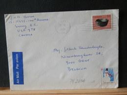 79/269A LETTRE  CANADA  1987 + VIGNETTE - Lettres & Documents