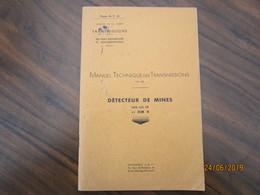 Manuel Technique Détecteur De Mines   Scr 625 Fr  De 45 Pages           ---------------------------------------19 Meni - Catalogues