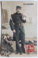 CPA Soldat Uniforme 1913 Tampon Rochefort Soldat 3 Régiment D'infanterie Coloniale 6 Compagnie - Uniformi