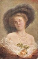"""Jos Zenisek.Lady With A Rose"" Nice Antique Czech Postard - Vrouwen"