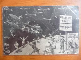 """CPA Officielle Souvenir Fin Du Monde 19 Mai 1910- Passage De La Comète De Halley -""""Aéroplans à Louer- Sauve Qui Peut"""" - Astronomy"""