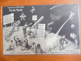 CPA Officielle Souvenir Fin Du Monde 19 Mai 1910- Passage Comète De Halley -catastrophe -sauvetage- Fusées Vers Mars - Astronomie