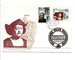 PORTUGAL MADEIRE FDC 1988 MAISON DE CHRISTOPHE COLOMB - Christopher Columbus