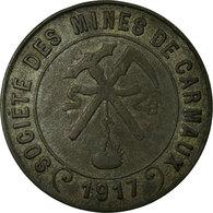 Monnaie, France, Société Des Mines, Carmaux, 10 Centimes, 1917, TTB, Zinc - Monétaires / De Nécessité