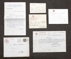 Croce Rossa Italiana Infermiere Volontarie Lotto 4 Comunicazioni Anni '30 - '40 - Vecchi Documenti