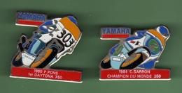 MOTO YAMAHA *** Lot De 2 Pin's Differents  *** 1028 - Motorräder