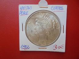 U.S.A 1$ 1922 ARGENT SUPERBE QUALITE !  (A.8) - Émissions Fédérales
