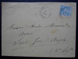 1899 Convoyeur La Rochelle à Angoulême - Marcophilie (Lettres)