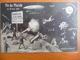 CPA Officielle Souvenir Fin Du Monde 19 Mai 1910- Passage Comète De Halley -expédition à La Lune -dernier Salut - Astronomie