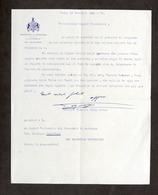 Lettera Con Autografo Del Generale Federico Morozzo Della Rocca - 1928 - Autografi