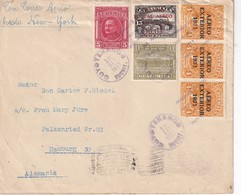 GUATEMALA 1933 PLI AERIEN DE GUYOTENANGO POUR HAMBURG - Guatemala