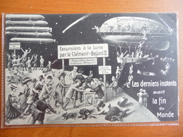 CPA Souvenir Fin Du Monde 19 Mai 1910- Passage Comète De Halley -Excursions à La Lune Dirigeable Clément-Bayard II - Astronomy