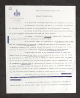 Autografo Del Generale Federico Morozzo Della Rocca - 1928 - Autografi