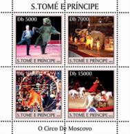 Sao  Tome 2004 Fauna  Circus Of Moscow , Bear,elephant , Tiger - Sao Tome And Principe