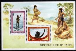 HAITI 1984 ARRIVALS EUROPEANS IN AMERICA INDIEN INCONNU BLOCK SHEET BLOCCO FOGLIETTO MNH - Haiti