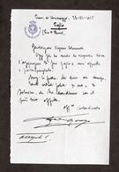 Lettera E Autografo Del Generale Federico Morozzo Della Rocca - 1923 - Autografi