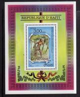 HAITI 1986 ARRIVALS EUROPEANS IN AMERICA BLOCK SHEET BLOCCO FOGLIETTO MNH - Haiti