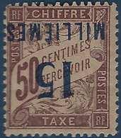 France Colonies Port Said Taxe N°8a* 15c /50c Variété Surcharge Renversée - Port-Saïd (1899-1931)