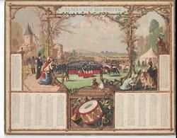 Almanach Des Postes 1878: REVUE DE LONGCHAMPS   SAINT CYR  Catonnage Seul - Formato Grande : ...-1900