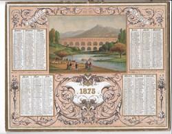 Almanach Des Postes 1875: Pont Du GARD  Catonnage Seul - Formato Grande : ...-1900
