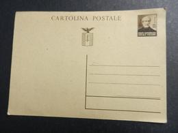 19955) REPUBBLICA SOCIALE ITALIANA CARTOLINA POSTALE 30 CENTESIMI MAZZINI NON VIAGGIATA - 4. 1944-45 Repubblica Sociale