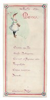 WW1   PIERRE GALLE   14 Juillet 1916  Aquarelle Originale Sur Menu Au Capitaine Billot - Prints & Engravings