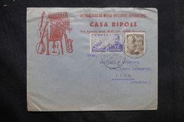 ESPAGNE - Enveloppe Commerciale ( Musique ) De Barcelone Pour La France En 1953 - L 34264 - 1951-60 Cartas