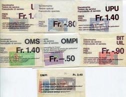RC 10351 SUISSE LOT TIMBRES DE SERVICE NEUFS ** - Oficial