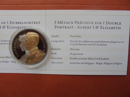 S.M Albert 1er Et ELISABETH SUPERBE DOUBLE-PORTRAIT - Royal / Of Nobility