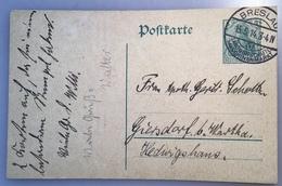 """""""BRESLAU LANDWIRTSCHAFTL MASCHINENMARKT 1914"""" Sonderstempel Ganzsache (Brief Schlesien Machines Industrie Agriculture - Germania"""