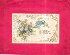 CPA DOS SIMPLE  COLORISEE FANTAISIE  - Ne M'oublie Pas................ C'est Le Vœu De Mon Cœur - ROY1 - - Fancy Cards