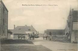 CPA 28 Eure Et Loir Boullay Les Deux Eglises Place De L'Eglise Cavaliers Chevaux - Other Municipalities