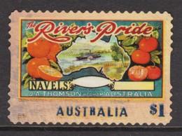 Australia 2016 Nostalgic Fruit Labels $1 River's Pride Self-adhesive Used - 2010-... Elizabeth II