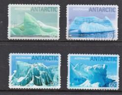 Australian Antarctic 2011 Icebergs Set Of 4 Self-adhesives Used - Australian Antarctic Territory (AAT)