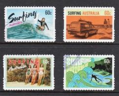 Australia 2013 Surfing Set Of 4 Self-adhesives Used - Used Stamps